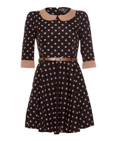 Look at this Black Pallini Spot A-Line Dress on #zulily today!