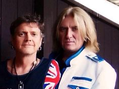 What great pic of these two! Rick and Joe of Def Leppard.