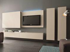 Parete attrezzata componibile con porta tv SLIM 13 Collezione Slim by Dall'Agnese | design Imago Design, Massimo Rosa
