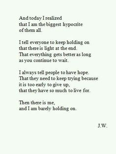 And yep! I am the biggest hypocrite in this world!
