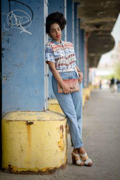 Cipriana Quann of Urban Bush Babes shooting for Essence Magazine in some Beacon's goods. #urbanbushbabes #essencemagazine