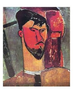 Reproduction with Oil painting effect of painting made by Modigliani Amedeo - Portrait Of Henri Laurens 1915 Amedeo Modigliani, Modigliani Portraits, Modigliani Paintings, Italian Painters, Italian Artist, Matisse, Karl Schmidt Rottluff, Oil On Canvas, Canvas Art