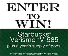 » Enter for a chance to win a Starbucks Verismo V-585! Bargain Hound Daily Deals
