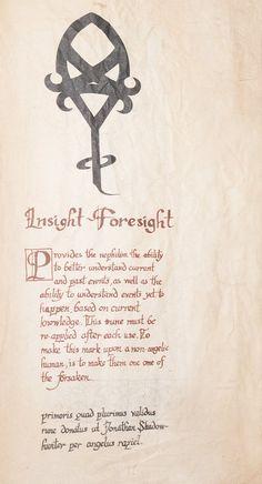 Insight/foresight rune