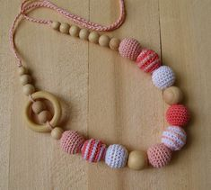 Crochet Nursing necklace Teething necklace for mom от NittoMiton