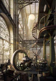 Intérieur inspiré par le monde imaginaire, visualisation : Robert Filipowicz