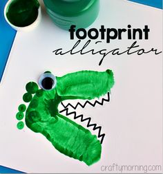 Alligator & Dinosaur Footprint Crafts for Kids - Crafty Morning