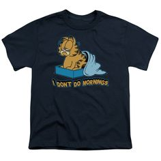 "Checkout our #LicensedGear products FREE SHIPPING + 10% OFF Coupon Code ""Official"" Garfield / I Don't Do Mornings - Short Sleeve Youth 18 / 1 - Garfield / I Don't Do Mornings - Short Sleeve Youth 18 / 1 - Price: $29.99. Buy now at https://officiallylicensedgear.com/garfield-i-don-t-do-mornings-short-sleeve-youth-18-1"