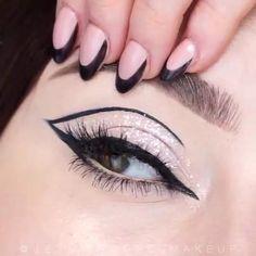 Eye Makeup Steps, Makeup Eye Looks, Beautiful Eye Makeup, Eye Makeup Art, Amazing Makeup, Egyptian Eye Makeup, Makeup Tutorial Eyeliner, Makeup Looks Tutorial, No Eyeliner Makeup
