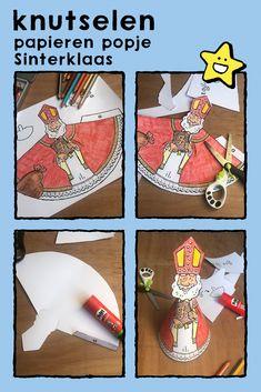 poppetje Sinterklaas knutselen, kleurplaat, kleurprent, tekening, kinderen, knutselen, poppetjes, feesten • Saint Nicholas, dolls, crafts, coloring pages, drawing, picture, kids, celebrations • Nikolaus, Puppen, Basteln, Ausmalbilder, Malvorlagen, Zeichnungen, Kinder, Feste • Saint-Nicolas, marionettes, bricoler, coloriage, dessin, image à colorier, enfants, fêtes #freebie #ColoringPages #kleurplaat #Ausmalbilder #coloriage #kids #kinderen #Kinder #enfant #Sinterklaas #SaintNicolas Old Fashion Christmas Tree, Christmas Tree Wreath, Retro Christmas, Country Christmas, Christmas Snowman, Christmas Tree Decorations, Christmas Crafts, Diy And Crafts, Crafts For Kids