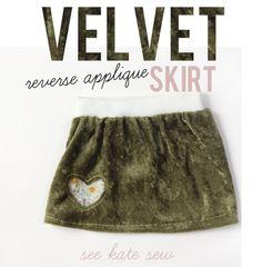 Velvet Reverse Applique Skirt Tutorial - see kate sew: skirting the issue