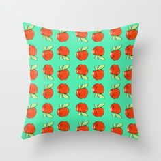 Apples  Throw Pillow by chaploart | Society6