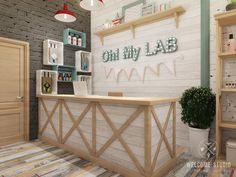 "Салон красоты ""Oh! My LAB"" в г. Иваново | Welcome-studio Nail Salon Design, Nail Salon Decor, Beauty Salon Decor, Salon Interior Design, Beauty Salon Design, Rack Design, Store Design, Design Design, Makeup Studio Decor"