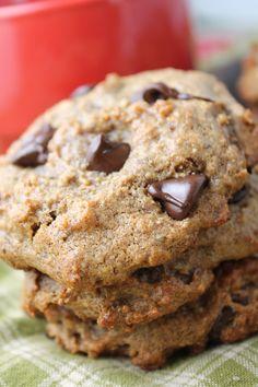 Flourless, Sugar Free Chocolate Chip Cookies