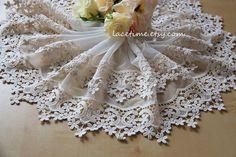 Lace Trim in Cream Bridal Lace Fabric Trim  Exquisite by lacetime, $5.99