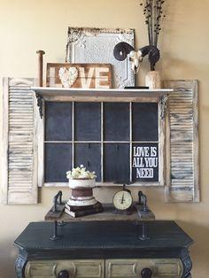 Vintage window with shelf