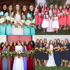 "Duggar & Bates Comparisons! on Instagram: ""First one! Which Duggar girls bridesmaid party looks best?""All"