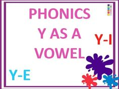 This product is a collection of Y as a Vowel sounds. Students can practice reading, saying, spelling, tracing, and writing these printable. $ http://www.teacherspayteachers.com/Store/Donna-Thompson
