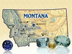 Come visit with the GIA Graduate Gemologists at Jewelry Studio in Bozeman, Montana to learn more about Montana sapphires and Yogo sapphires from Montana. and of course to purchase a beautiful piece of sapphire jewelry. Minerals And Gemstones, Crystals Minerals, Rocks And Minerals, Stones And Crystals, Gem Stones, Gem Hunt, Rock Hunting, Big Sky Country, Rock Collection