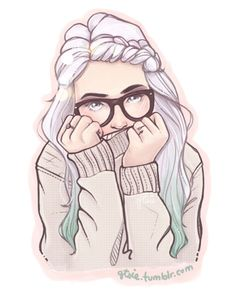 Finished prize from my post contest c: the winner was blessingsdarling! - gorgeous girl art very Pastel light pink with glasses Cartoon Kunst, Anime Kunst, Cartoon Art, Anime Art, Cartoon Girls, Art And Illustration, Illustrations, Illustration Girl Glasses, Drawn Art