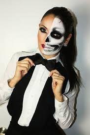 Bildergebnis für halloween make up halbes gesicht