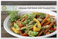 Julienne Fall Salad with Toasted Chia Recipe
