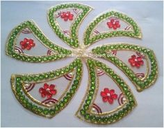 flower rangoli pattern
