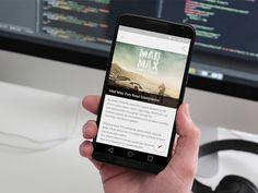 Protechman Mobile App - Free Blog Template (Sketch)
