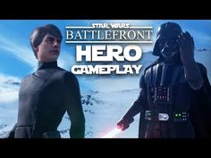 Star Wars Battlefront Jedi Gameplay - HERO GAMEPLAY with Luke Skywalker & Darth Vader - YouTube