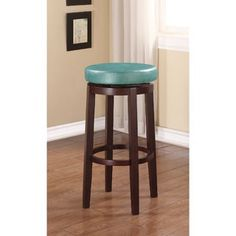Shop for Linon Dorothy Backless Bar Stool Aqua Blue Swivel Seat. Get free shipping at Overstock.com - Your Online Furniture Outlet Store! Get 5% in rewards with Club O! - 17123170