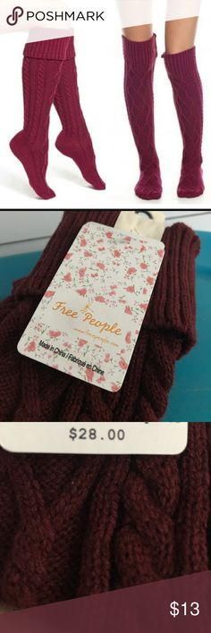Cozy Free People Socks Brand new with a tags. No trades!! Free People Intimates & Sleepwear