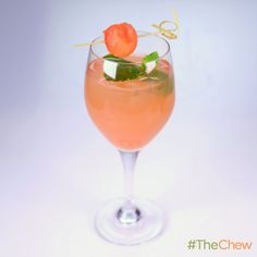 Watermelon Mint Sangria by Clinton Kelly! #TheChew #Cocktail #HappyHour