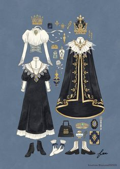 fouatons / Tearaki / Bücher im Verkauf – Site Today – Character Design Vintage Fashion Sketches, Fashion Design Drawings, Anime Outfits, Cute Outfits, Fashion Art, Kleidung Design, Drawing Clothes, Doll Drawing, Character Outfits
