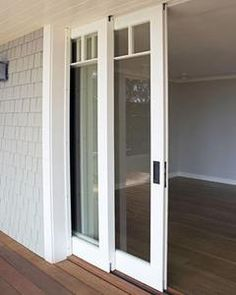 Bifold French Doors, French Doors With Screens, French Doors Patio, Sliding Door Design, Sliding Patio Doors, Sliding Glass Door, Glass Doors, Kitchen Patio Doors, Glass Porch