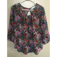 Colorful Top! Colorful top, size small, nwot tags! Pants Store Tops