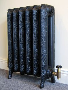 Ornate cast iron radiator Steam Radiators, Old Radiators, Cast Iron Radiators, Heating And Plumbing, Radiator Cover, Gothic House, Herd, Elements Of Design, Victorian Homes