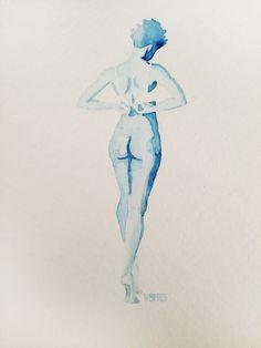 """Fine Art Print, Giclee, """"Bedtime"""" 9 x 12 in. by ArtbyVBM on Etsy #nude #woman #bra"""