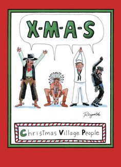 """XMAS - NobleWorks - Funny Christmas Card. Send your friends this catchy Merry Christmas greeting, personalized with your own message and photo inside. 5"""" x 7"""" Folded Card. Price: $2.99"""