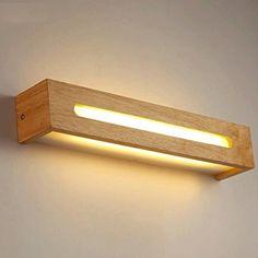 FHK,Luces de pared nórdica y sencilla lámpara de pared del pasillo Lámpara de cabecera del dormitorio elegante escalera de madera antes de la Madera de iluminación LED luces de espejos de baño Apliques decorativos de pared ( Color : Pequeño ): Amazon.es: Hogar