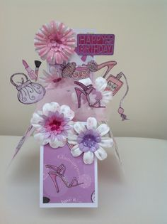 Glam Fairy Godmother pop up box card