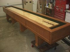 Custom Shuffleboard Table