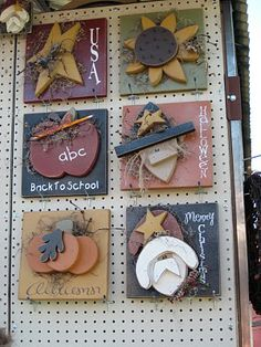 Welcome Post Signs-#2 Summer Crafts, Fall Crafts, Holiday Crafts, Diy And Crafts, Easter Crafts, Pintura Country, Tole Painting, Painting On Wood, Wood Projects