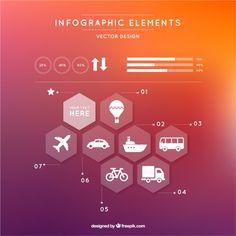 Infográfico moderno com hexágonos Vetor grátis