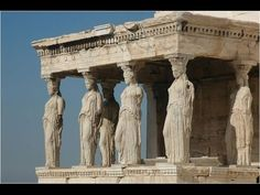 Erechtheum in an ancient Greek Temple. Beside the Parthenon in Athens. Greece Tourism, Greece Travel, Ancient Greek Art, Ancient Greece, Ancient History, Athens And Sparta, Rome Antique, Greece Vacation, Athens Greece