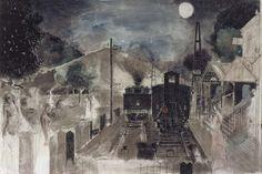 透明感たたえた夜景 「ポール・デルヴォー展夢をめぐる旅