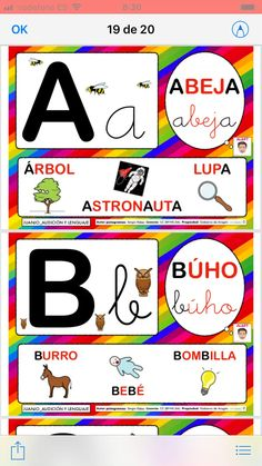 Alphabet decorate classroom 💛 - I have made this material for you to decorate your classroom with this colorful alphabet ☺️ - Phonics Flashcards, Transportation Crafts, Spanish Lessons For Kids, Community Helpers Preschool, Kindergarten, Preschool Learning Activities, Kids Education, Elementary Schools, Classroom