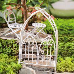 Fairy Garden Arbor, White Twigs