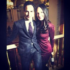 Catt Sadler with Zac Posen at The Plaza #NYFW