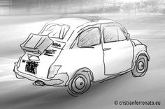 #fiat500 #drawing #disegno