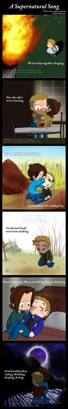 A Supernatural Song by KamiDiox.deviantart.com on @deviantART THE LAST ONE IS HEAVEN DO I LOVE IT OR DO I CRY